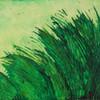 """Grün - Gras"" 2014, Acryl mit Struktur, 50x70cm, verkauft"