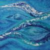 """""""Blau - Wasser"""" 2014, Acryl mit Struktur, 50x70cm, verkauft"""