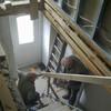 Eine neue Treppe wird gebaut