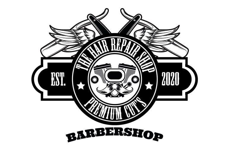 Logo voorbeeld Barbershop Eazyonline