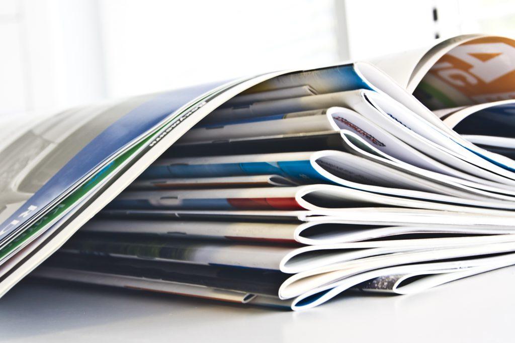 Zeitschriften und Bücher bei Schreibwaren Pranz