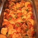 Hähnchenbrustfilet mit Tomate/Mozzarella überbacken
