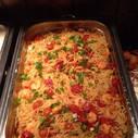 Scharfe Knoblauch-Spaghetti mit Garnelen