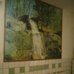 Alte Waschbecken in der Schule Juskivzi