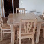 Ausziehtisch mit 4 Stühle in Fichte