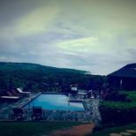 Die Aussicht unseres Hotels in Batsheba, im Nordosten der Insel