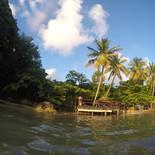 Gegenseitiges Fotografieren, Jasmin im Meer, Philippe an Land