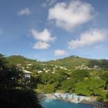 Die Aussicht von der Rezeption unseres Hotels auf Bequia