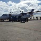 Unser Flugzeug der LIAT Airline