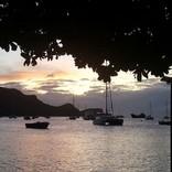 schöne Abendstimmung am Yachthafen von Bequia