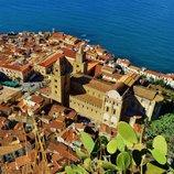 Blick von der Rocca über Cefalù