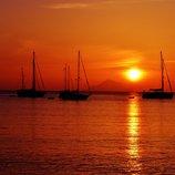 Sonnenuntergang vor der Nordküste Siziliens