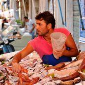 Fischverkäufer in Palermo