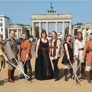 Gruppenfoto vor dem Brandeburger Tor