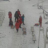Schulhof im Winter 2018