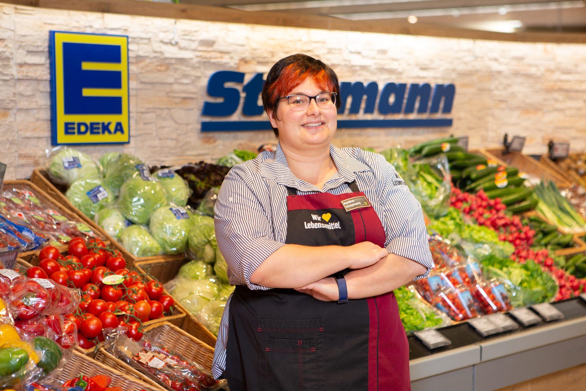 Edeka Stegmann Kissing Nadine Stegmann