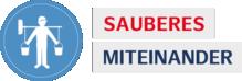 Sauberes Miteinander Logo der Wertschätzungskampagne für die Reinigungskräfte der Hamburg