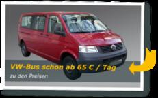 Kleinbusse (VW-Bus schon ab 65€ / Tag)