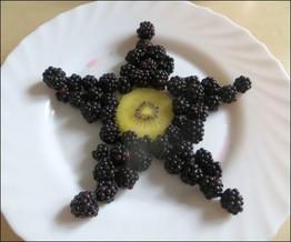 Ananas und anderes Obst dekorativ schneiden, Obst und Gemüse für Kindergeburtstag kreativ schneiden und dekorieren, Tiere aus Obst legen, Wie kriegen Kinder Lust auf Obst? Tipps und Trick, wie Kinder gern Obst und Gemüse essen.