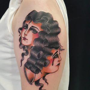 Selfmade Tattoo Berlin Angie Rimmel Vegan Walk In Traditional Face Woman Portrait