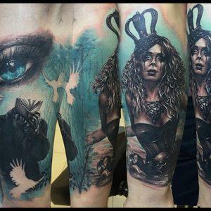 Selfmade Tattoo Berlin Zsofia Belteczky fantasy book woman