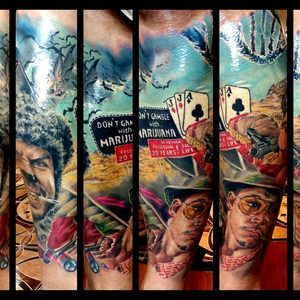 Selfmade Tattoo Berlin Zsofia Belteczky las vegas johnny depp