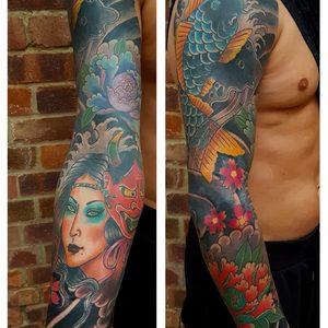 Selfmade Tattoo Berlin Angie Rimmel Vegan Walk In Traditional Asian Sleeve Color