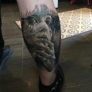 Belteczky Zsofia Selfmade Tattoo Berlin Vegan realistic portrait horror