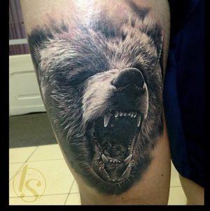 Selfmade Tattoo Berlin Zsofia Belteczky bear baer tier animal nature