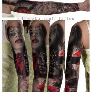 Selfmade Tattoo Berlin Zsofia Belteczky sleeve