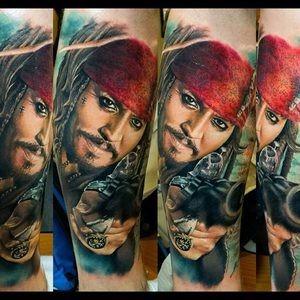 Selfmade Tattoo Berlin Zsofia Belteczky johnny depp pirate