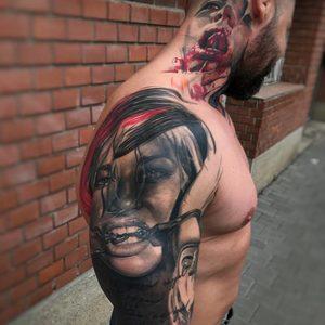 Selfmade Tattoo Berlin Kristof Tito Kondratkinky horror portrait chain