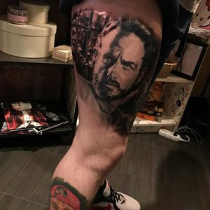 Selfmade Tattoo Berlin Kristof Tito Kondrat walkingdead rick grimes zombie