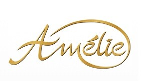 Das Logo von Amelie Brautmode. Amelie Brautmode ist ein großer Brautkleid Hersteller. Sie stehen für klassische Brautmode mit verspielten Details.