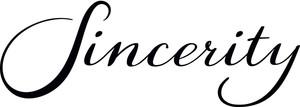 Das Logo von Sincerity Bridal. Diese Firma ist eine Untermarke des Brautkleid Herstellers Justin Alexander. Sincerity steht für klassische und verspielte Brautmode im mittleren Preissegment.
