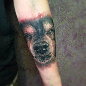 Selfmade Tattoo Berlin Zsofia Belteczky dog hund portrait