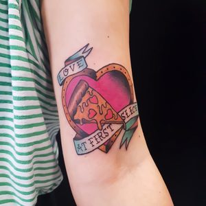 Selfmade Tattoo Berlin Angie Rimmel Vegan Walk In Traditional Color Pizza Love Heart