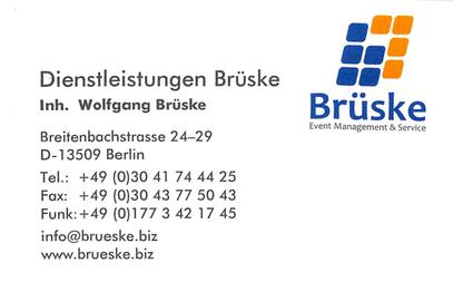 Impressum Dienstleistungen Brüske