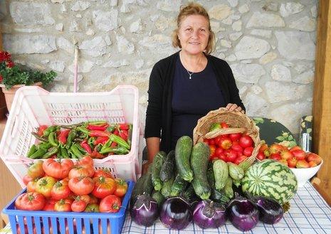 Kulinarische Reise Sizilien, Markfrau
