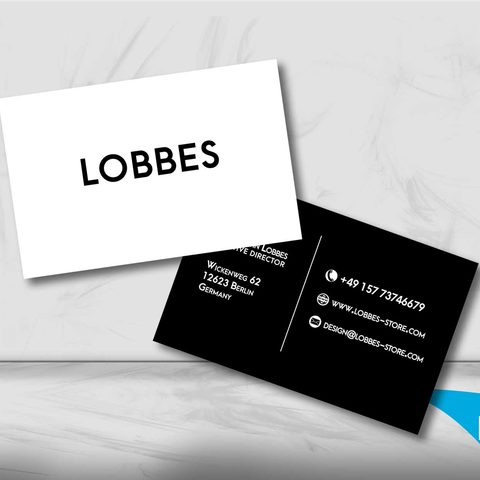 Lobbes Visitenkartendesign