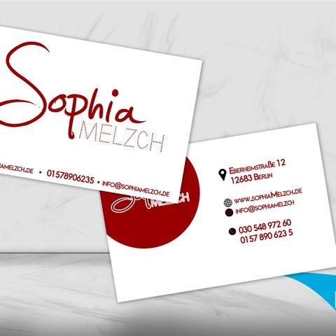 Sophia Melz Visitenkartendesign