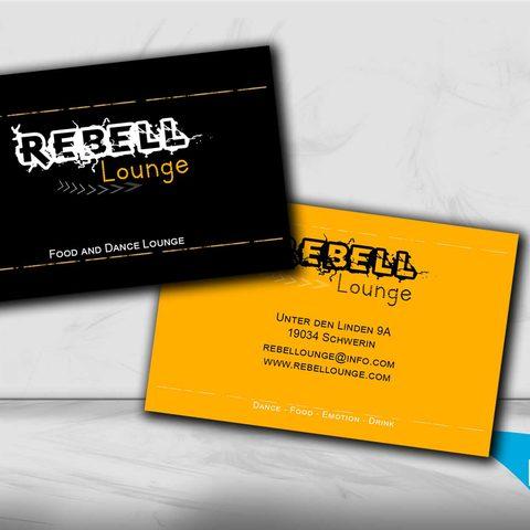 Rebell Lounge Visitenkarte