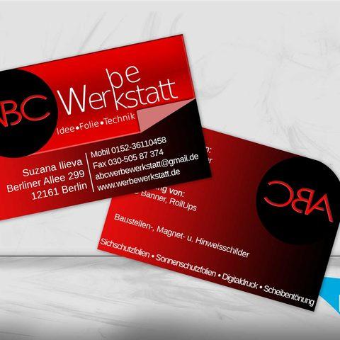 ABC Werbewerkstatt Visitenkarte