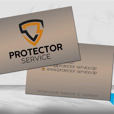 Visitenkartendesign Protector