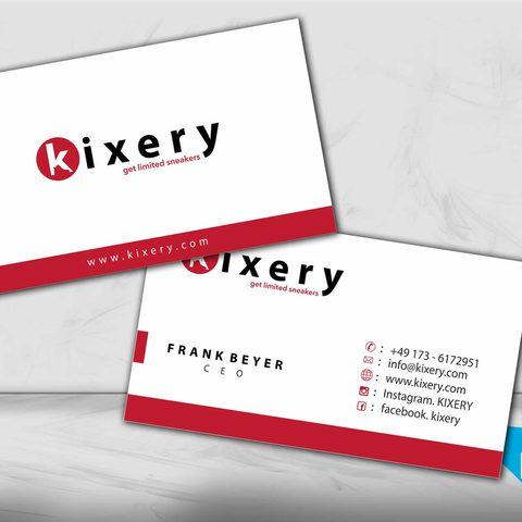 Visitenkartendesign Kixery