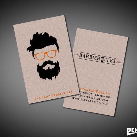 Visitenkartendesign Barbier Flex