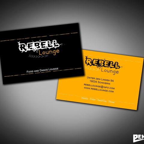 Visitenkartendesign Rebell Lounge