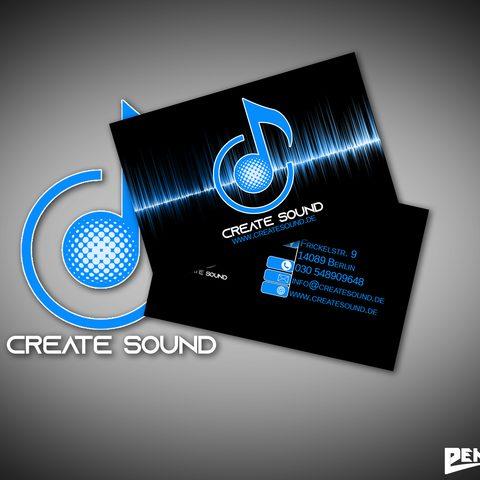 Visitenkartendesign Create Sound