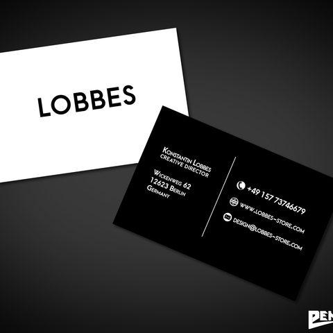 Visitenkartendesign Lobbes