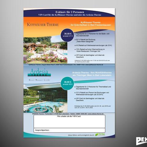 Plakat und VIP Card